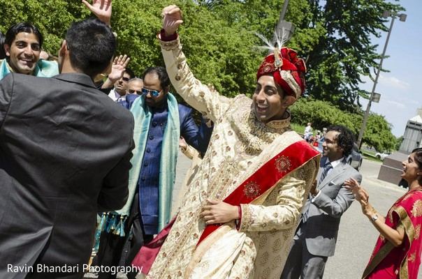 Baraat in Dearborn, MI Indian Wedding by Ravin Bhandari Photography