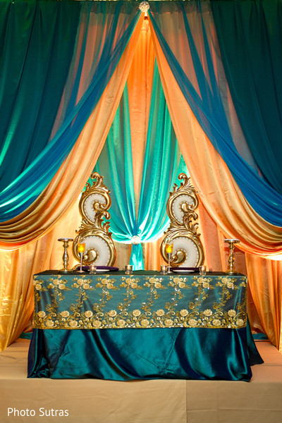 Reception Decor in San Jose, CA Indian Wedding by Photo Sutras