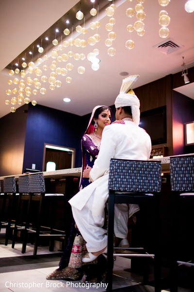 Wedding Portrait in Atlanta, GA South Asian Wedding by Christopher Brock Photography