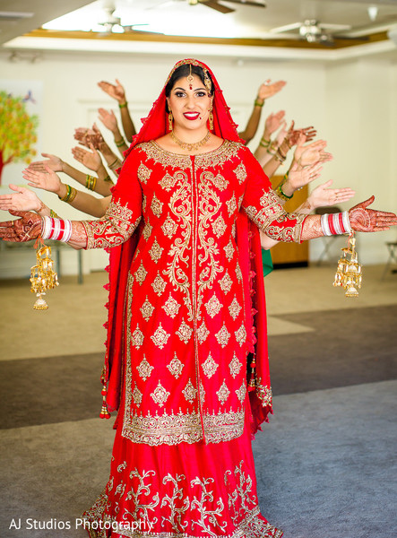 Bridal Portrait in Buena Park, CA Sikh Wedding by AJ Studios Photography