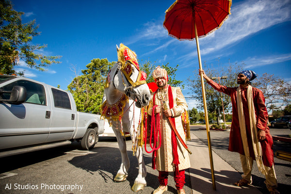Baraat in Buena Park, CA Sikh Wedding by AJ Studios Photography
