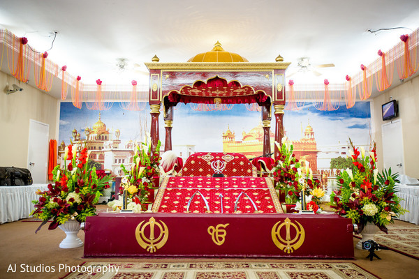 Ceremony Decor in Buena Park, CA Sikh Wedding by AJ Studios Photography