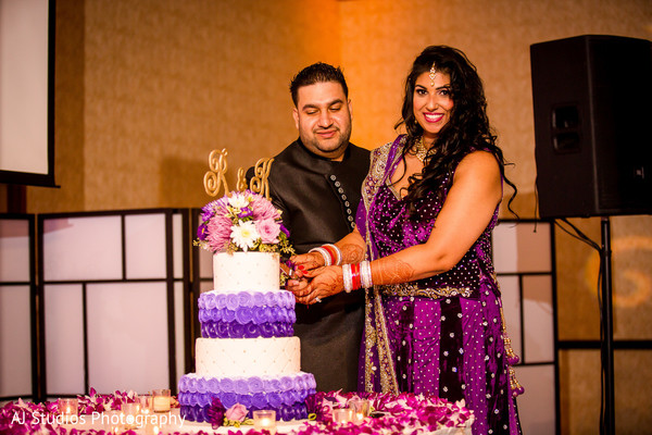 Cake Cutting in Buena Park, CA Sikh Wedding by AJ Studios Photography