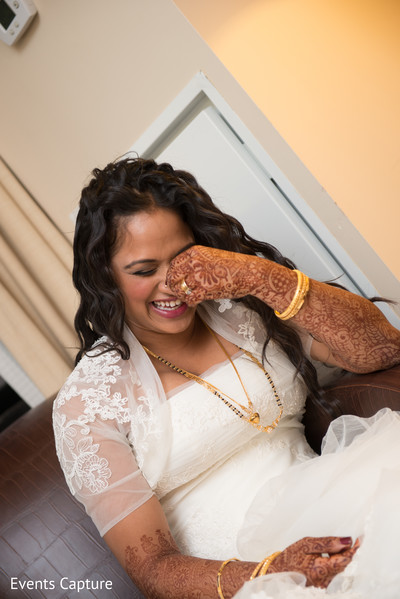 Bridal Portrait in Bridgewater, NJ Indian Fusion Wedding by Events Capture
