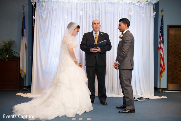 Ceremony in Bridgewater, NJ Indian Fusion Wedding by Events Capture