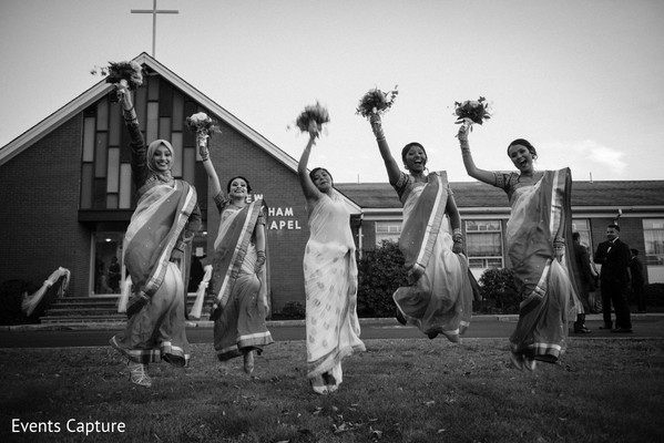 Bridal Party Portrait in Bridgewater, NJ Indian Fusion Wedding by Events Capture