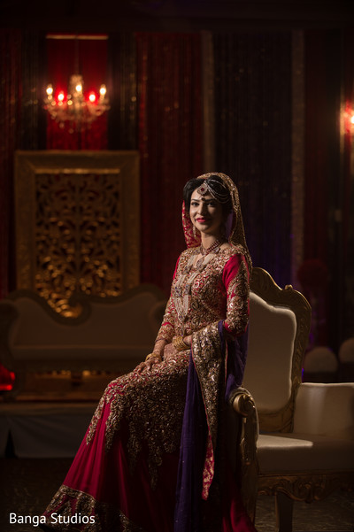 Bridal Portrait in Ontario, Canada Pakistani Wedding by Banga Studios