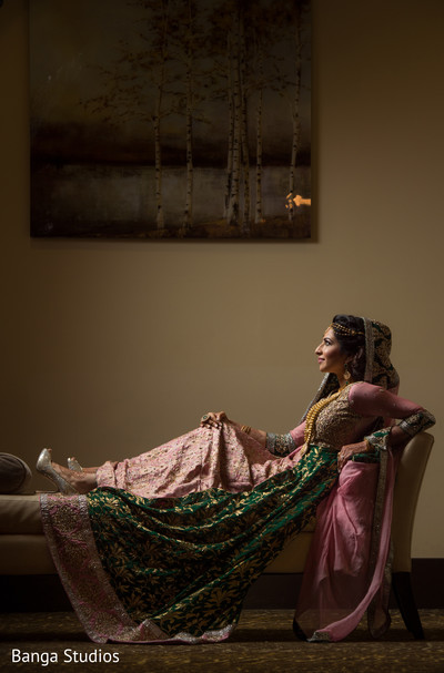 Reception Portrait in Ontario, Canada Pakistani Wedding by Banga Studios