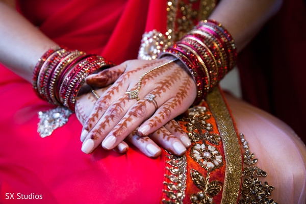 Getting Ready in McLean, VA Hindu-Christian Wedding by SX Studios
