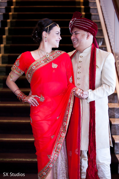 Portraits in McLean, VA Hindu-Christian Wedding by SX Studios