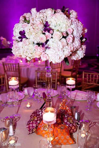 Reception Decor in McLean, VA Hindu-Christian Wedding by SX Studios