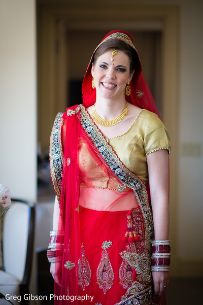 Bridal Portrait in Washington D.C. Indian Fusion Wedding by Greg Gibson Photography