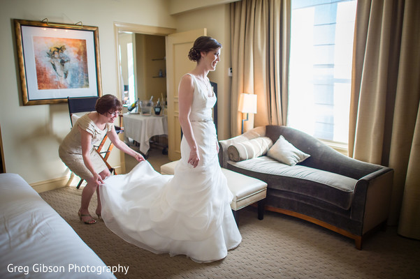 Getting Ready in Washington D.C. Indian Fusion Wedding by Greg Gibson Photography
