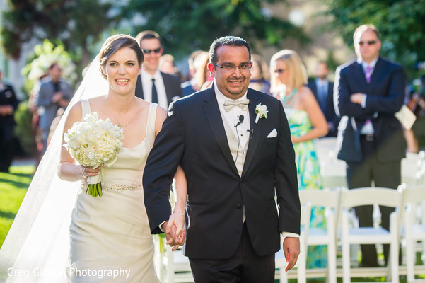 Ceremony in Washington D.C. Indian Fusion Wedding by Greg Gibson Photography