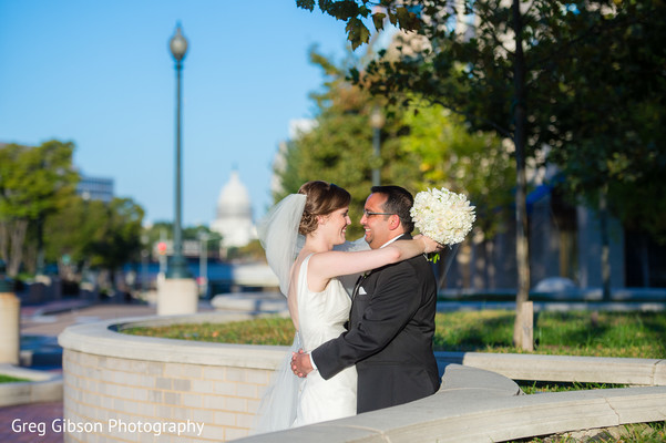 Wedding Portrait in Washington D.C. Indian Fusion Wedding by Greg Gibson Photography