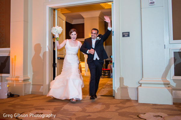Reception in Washington D.C. Indian Fusion Wedding by Greg Gibson Photography