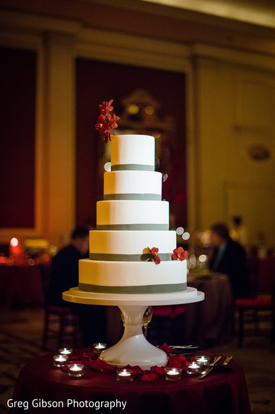 Wedding Cake in Washington D.C. Indian Fusion Wedding by Greg Gibson Photography