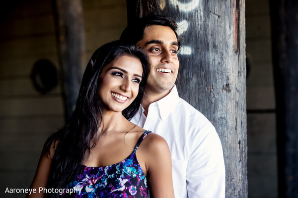 Engagement Portrait in Anaheim, CA Indian Wedding by Aaroneye Photography