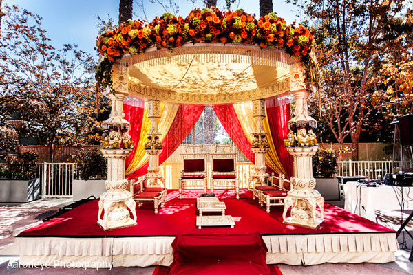 Floral & Decor in Anaheim, CA Indian Wedding by Aaroneye Photography