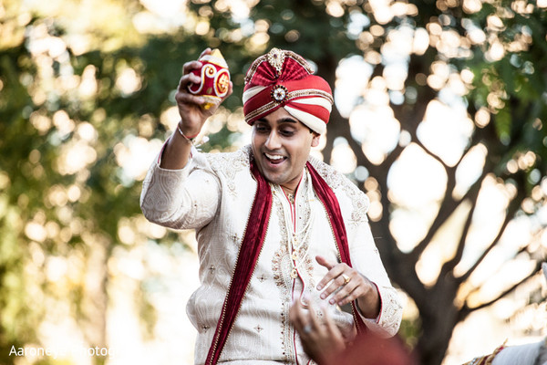 Baraat in Anaheim, CA Indian Wedding by Aaroneye Photography