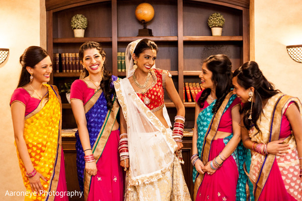 Bridal Party Portrait in Anaheim, CA Indian Wedding by Aaroneye Photography