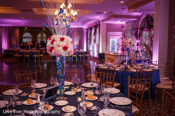 Reception Decor in Hudson Valley, NY South Indian Fusion Wedding by Love Ever More Photography