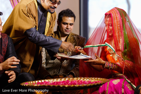 Ceremony in Hudson Valley, NY South Indian Fusion Wedding by Love Ever More Photography