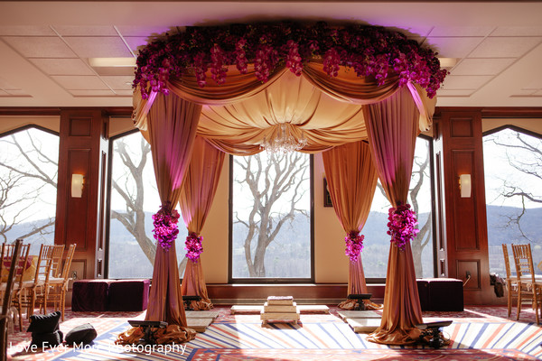 Mandap in Hudson Valley, NY South Indian Fusion Wedding by Love Ever More Photography