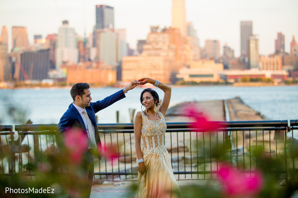 Pre-Wedding Portrait in Jersey City, NJ Indian Wedding by PhotosMadeEz