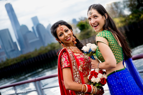 Wedding Portrait in Jersey City, NJ Indian Wedding by PhotosMadeEz