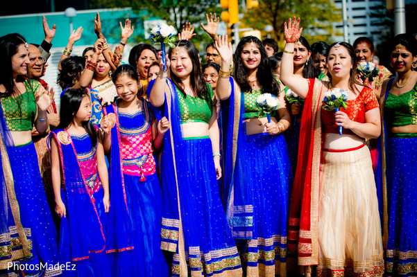 Bridal Party in Jersey City, NJ Indian Wedding by PhotosMadeEz