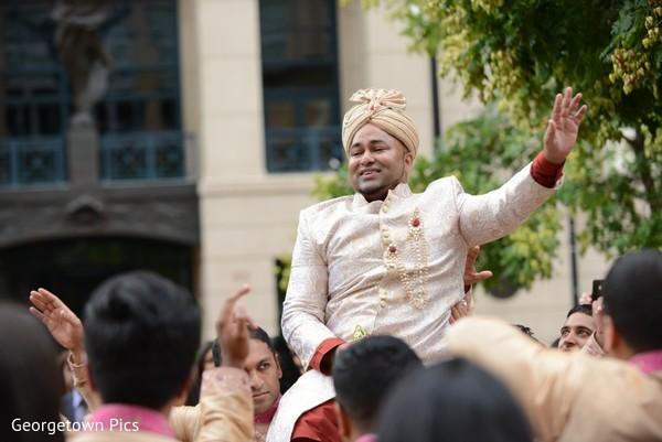 Baraat in Alexandria, VA Indian Wedding by Georgetown Pics