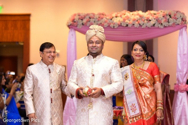 Ceremony in Alexandria, VA Indian Wedding by Georgetown Pics