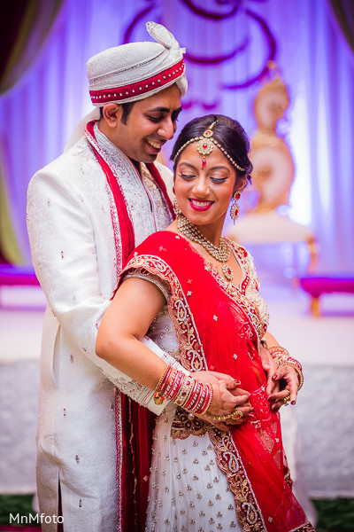 Wedding Portrait in Dallas, TX Indian Wedding by MnMfoto