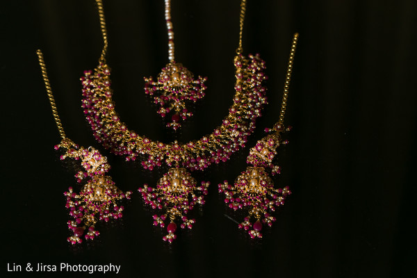 Bridal Jewelry in Yorba Linda, CA Indian Fusion Wedding by Lin & Jirsa Photography