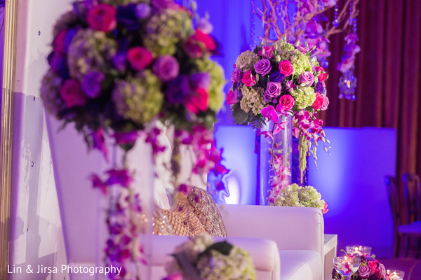 Reception Decor in Yorba Linda, CA Indian Fusion Wedding by Lin & Jirsa Photography