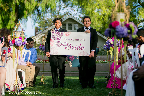 Ceremony in Yorba Linda, CA Indian Fusion Wedding by Lin & Jirsa Photography