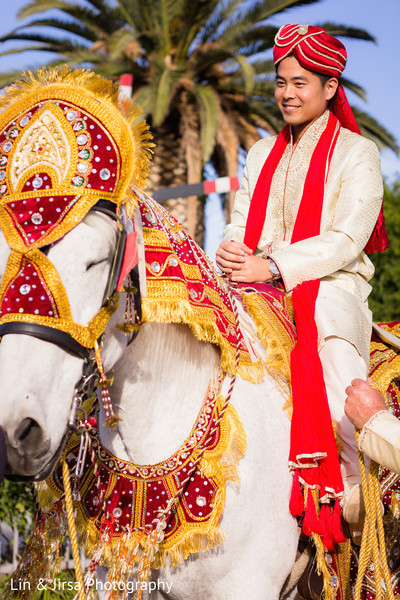 Baraat in Yorba Linda, CA Indian Fusion Wedding by Lin & Jirsa Photography
