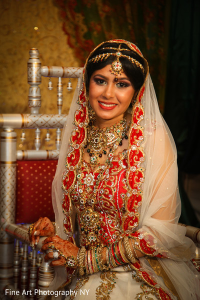 Bridal Portrait in Brooklyn, NY Indian Wedding by Fine Art Photography