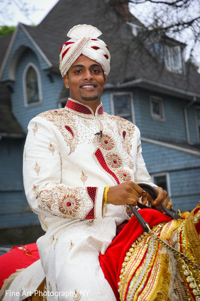 Baraat in Brooklyn, NY Indian Wedding by Fine Art Photography