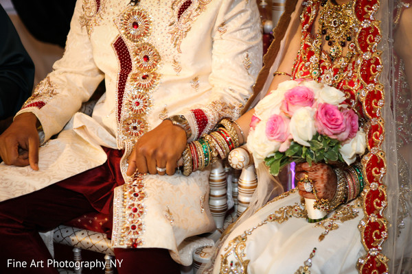 Ceremony in Brooklyn, NY Indian Wedding by Fine Art Photography