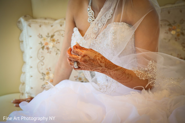Getting Ready for Reception in Brooklyn, NY Indian Wedding by Fine Art Photography