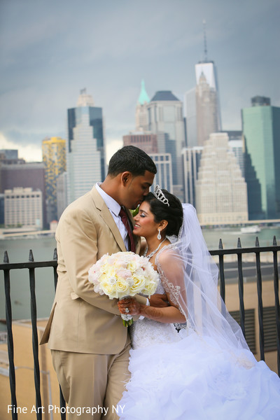 Reception Portrait in Brooklyn, NY Indian Wedding by Fine Art Photography