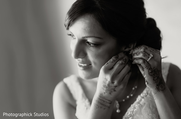 Getting Ready in Alexandria, VA Indian Fusion Wedding by Photographick Studios