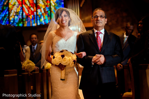 Ceremony in Alexandria, VA Indian Fusion Wedding by Photographick Studios