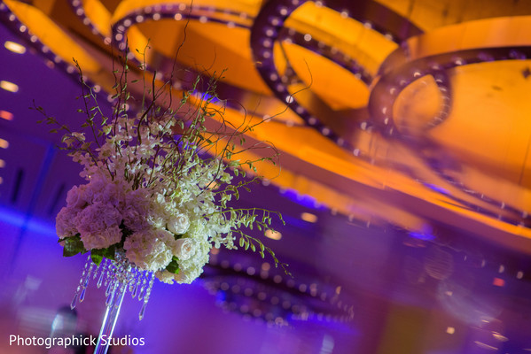 Reception Decor in Alexandria, VA Indian Fusion Wedding by Photographick Studios