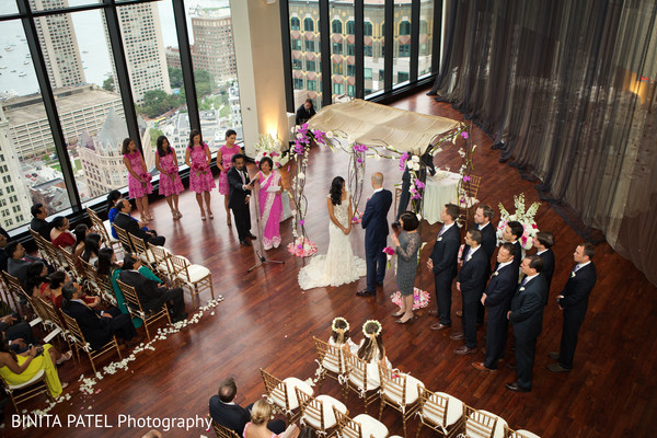 Ceremony in Boston, MA Jewish-Sikh Fusion Wedding by Binita Patel Photography