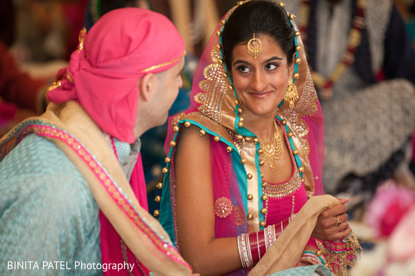 Sikh Ceremony in Boston, MA Jewish-Sikh Fusion Wedding by Binita Patel Photography