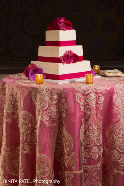 Reception Cake in Boston, MA Jewish-Sikh Fusion Wedding by Binita Patel Photography
