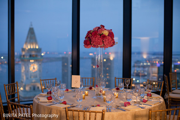 Reception Decor in Boston, MA Jewish-Sikh Fusion Wedding by Binita Patel Photography